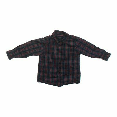 The Children's Place Boys Button-down Shirt, size 4/4T,  maroon,  cotton