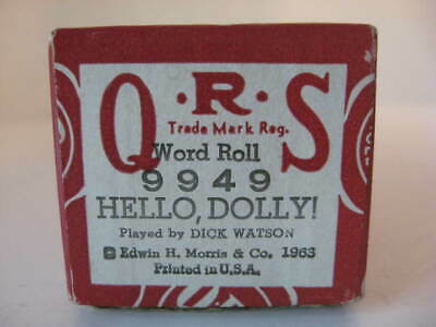 HELLO, DOLLY - QRS Player Piano Roll  9949  - NO DAMAGE