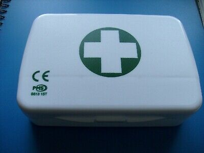 Refillable FIRST AID BOX - White - Freepost UK