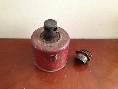 Vintage Anthes Force Oiler Co Ft Madison IA Smudge Pot roadside emergency light