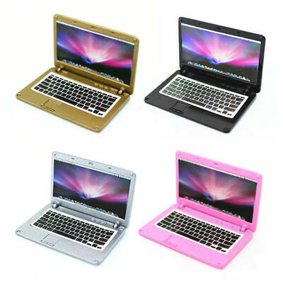 1Pcs 1/12 Dollhouse Miniature Mini Laptop Black/Sliver/Gold/Pink Room Items Best
