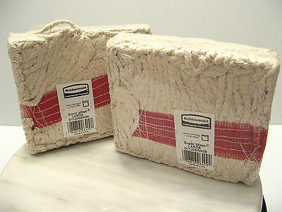 Rubbermaid Commercial Products SUPER STITCH WHITE MOP HEAD Lot of 2 D11306WH00