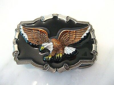 American Eagle Belt Buckle Vintage 1983 co Flying Bird - Made in USA