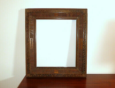 Frame Picture Frame Frame with Kerbschnitzerei Dat. 1896