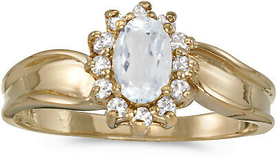 14k Yellow Gold Oval Opal And Diamond Ring CM-RM869X-10