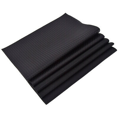 A4 Black PVC Artificial Faux Leather PU Vinyl Fabric For Bows Bags DIY Make