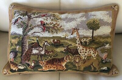 Vintage Tapestry Needlepoint Cushion Animals & Birds Collection