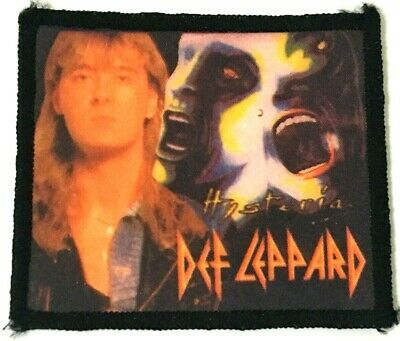 DEF LEPPARD - Hysteria - Old OG Vtg 80/90`s Printed Patch Sew On NWOBHM