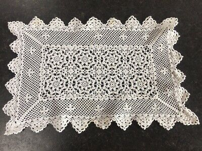 D Vintage Crochet Lace Dressing Table Place Mat Tray Cloth Runner Doily Doilies