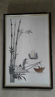 vintage chinese embroidery on silk