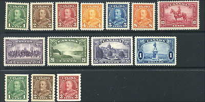 Canada #217-227,228-230 mint F-VF/XF OG NH/LH/DG 1935 KGV Pictorial Issue Set