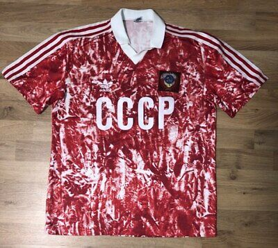 df1b2317d30 authentic USSR CCCP ADIDAS HOME FOOTBALL SHIRT Trikot M size soccer VERY  RARE