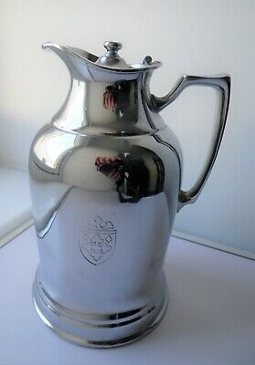 Vintage Nickle Silver Plated Grand Silver Co Wear Brite Insulated Pitcher Jug
