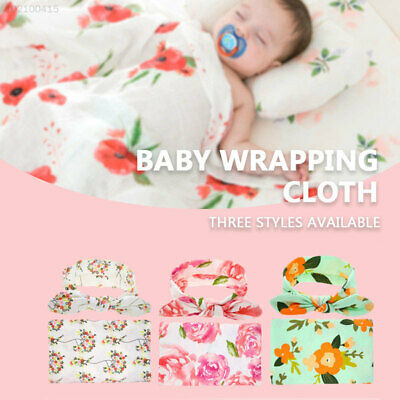 0E9D with Headwear Baby Blanket Girl Infant Outdoor Baby Sleeping Wrap Mother
