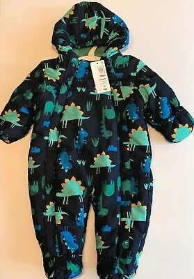 M&S Boys Outdoor All-In-One Navy 6-9 Months Bnwt