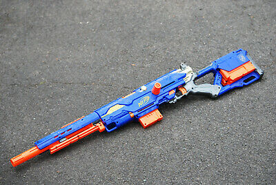 Nerf N-Strike Longstrike CS-6 Rifle Gun Blaster & x3 Magazine