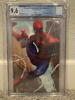 Friendly Neighborhood Spider-Man 1 - Artgerm  Virgin Variant 1:100 - CGC 9.6!!!