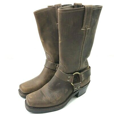 d9d2740bbf154 FRYE BROWN LEATHER Harness Engineer Boots Womens Size 8.5 M Style ...
