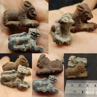 Ancient Stone Beautiful 2 Wild Animals Lovely Beads   # 22