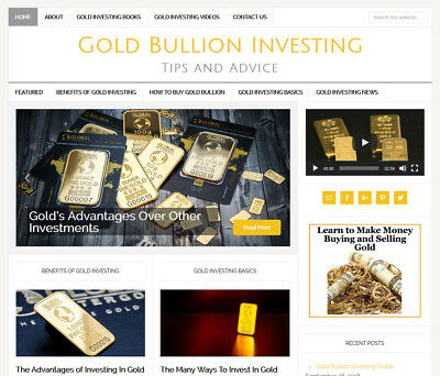 GOLD INVESTING affiliate website business for sale w/ AUTO UPDATING CONTENT