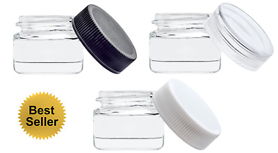 [350 PCS] 5ml Glass Concentrate Screw Top Jars  - Lip Balm Makeup Oil Containers