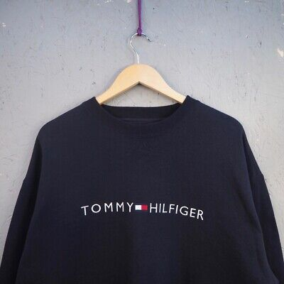 Détails sur Vintage 90s Tommy Hilfiger Homme Large Sort Out Patch Polaire Crewneck Pull