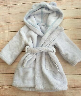 6-12 Months boys blue the little white company  Designer Dressing Gown