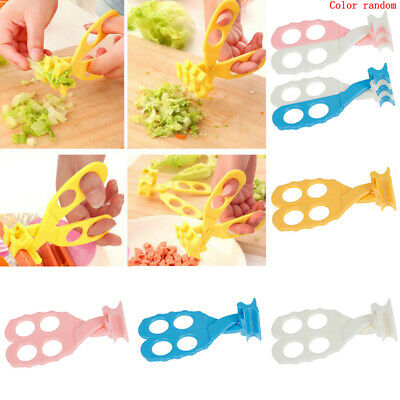 1pc professional safe care baby kids cut food shears feeding toddlers scissTPD