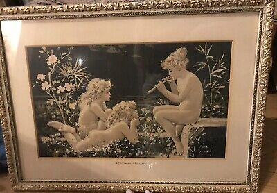 Gorgeous Vintage Framed Drawing
