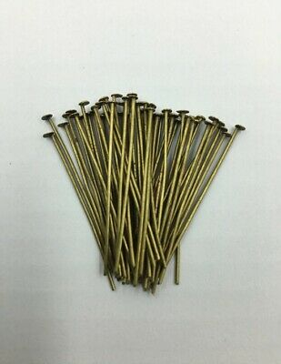 Head Pins - Antique Gold - 35mm - 50 Pieces - New
