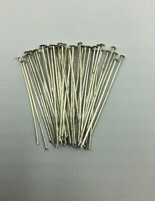 Head Pins - Bright Silver - 35mm - 50 Pieces - New