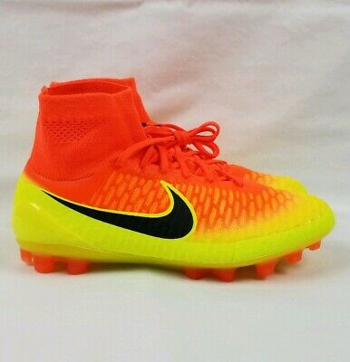 8713d398218 Nike Magista Obra ACC AG-R Soccer Cleats Men s Sz 7 Crimson Volt 717130-