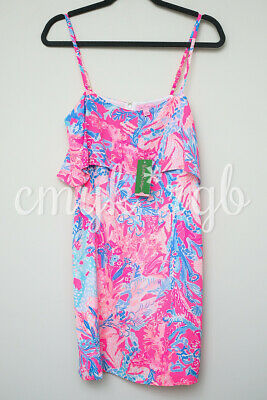 0f1b1a0cd4cef NEW/NWT Lilly Pulitzer LEXI Slip Dress in Light Pascha Pink Aquadesiac, S  $168