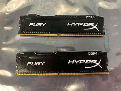 KINGSTON 8GB (2X4GB) HYPERX FURY DDR4 2400 DESKTOP RAM HX424C15FBK2/8 288-pin