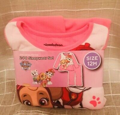 NWT- Nickelodeon Paw Patrol Girls-12 Months Sleepwear Set-Pink- Shirt, Pants