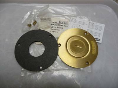 Hubbell Raco 6285 Brass Round Floor Box Cover New [see details]
