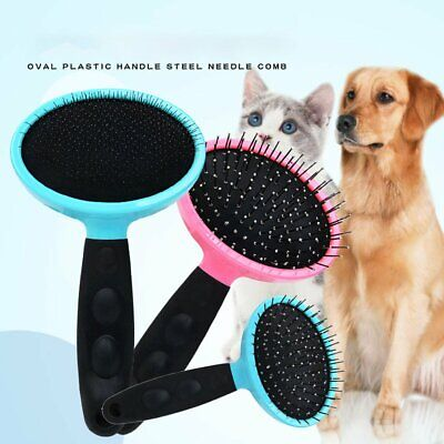 Pet Fur Deshedding Tool Cat Dog Hair Trimming Comb Rake Grooming Brush@C