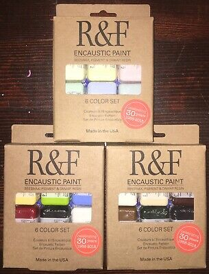 R&F Encaustic Paint Lot Of 18 40ml Blocks Brand New Craft Supplies R and F