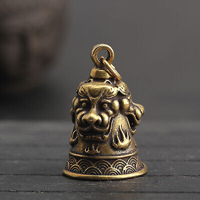 1PCS China Antique Collection Brass Feng Shui Copper Bell Pendant Accessories