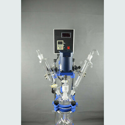 5L 220V Pilot Plant Jacketed Glass Chemical Reactor Glass Reactor Lab Glassware
