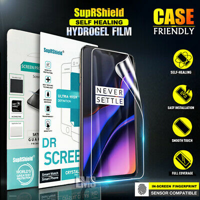 SupRShield OnePlus 6T 7 7 Pro HYDROGEL AQUA Full Cover Coverage Screen Protector