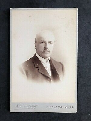 Victorian Photo: Cabinet Card: Gent Balding: Browning : Exeter