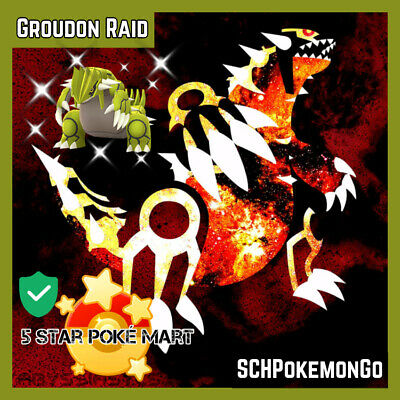 Pokemon Go Shiny Groudon Raid Service Guaranteed Shiny Limited