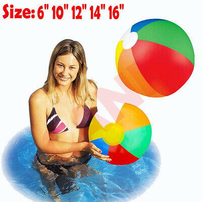 Inflatable Panel Beach Ball Blow Up Holiday Swimming Pool Game Party Toy Kids