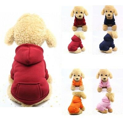 Puppy Cat Winter Warm Clothes Sweater Costume Jacket Coat Apparel Pet Dog Hoodie