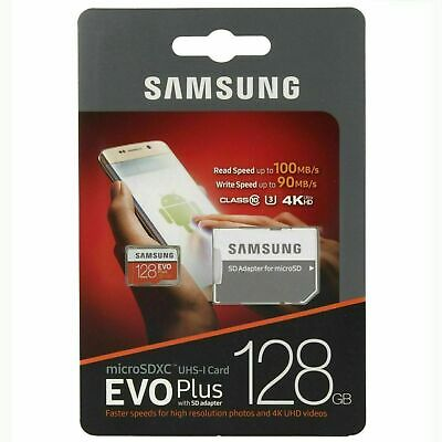 Samsung 128GB Micro SD Card SDXC Class 10 U3 Comp EVO Plus with Adapter 4K HD
