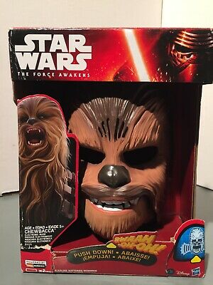 Star Wars The Force Awakens Chewbacca Electronic Mask Roar New Open Box Works