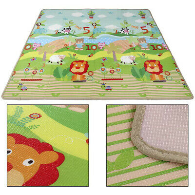 Baby Kids Play Mat Silk LDPE Floor Child Activity Soft Toy Gym Crawl Rug Welcome