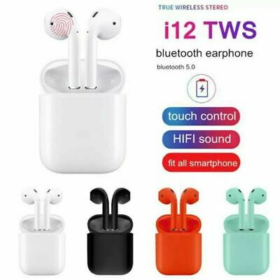 I11 i12 TWS Wireless Bluetooth 5.0 Earbuds Earphones For Apple iPhone Headphones