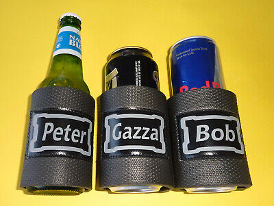 Stubby holder Name Plate stubby can holder wrap type
